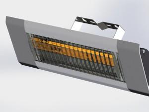 Terrasverwarmer aan de muur